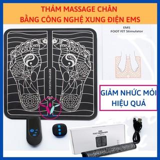 [Hàng chính hãng] Thảm massage chân giúp thon gọn bắp chân, đánh bay nhức mỏi chân bằng công nghệ xung điện EMS