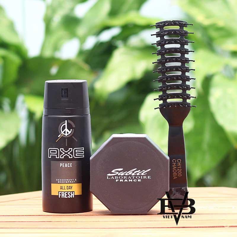 [COMBO + TẶNG] sản phẩm sáp vuốt tóc nam Clay Wax + Xịt khử mùi toàn thân AXE 150ml - Tặng kèm lược tạo kiểu Chaoba - 13745539 , 1834986505 , 322_1834986505 , 370000 , COMBO-TANG-san-pham-sap-vuot-toc-nam-Clay-Wax-Xit-khu-mui-toan-than-AXE-150ml-Tang-kem-luoc-tao-kieu-Chaoba-322_1834986505 , shopee.vn , [COMBO + TẶNG] sản phẩm sáp vuốt tóc nam Clay Wax + Xịt khử mùi