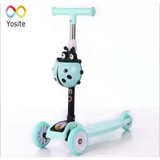 [Scooter] Xe trượt 3 bánh có đèn LED cho bé + Kèm túi đựng
