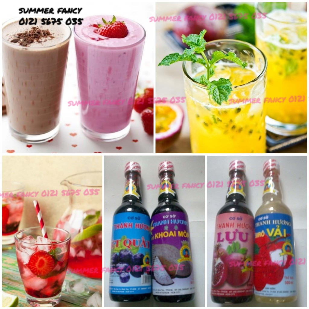 500ml Siro Thanh Hương pha trà sữa syrup