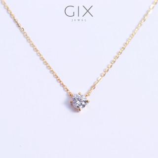 Dây chuyền bạc nữ đẹp mạ vàng đá Cz trắng cao cấp Gix Jewel SPGDC07 thumbnail