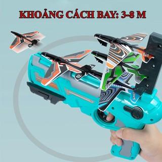 Súng đồ chơi bắn máy bay dành cho trẻ em , đồ chơi súng phóng máy bay lượn mô hình trẻ em thumbnail