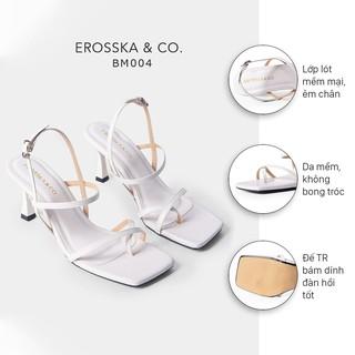 Hình ảnh [Mã FASHIONMALLT4 giảm tới 30K đơn 150K] Giày cao gót Erosska phối dây xỏ ngón cao 7cm màu trắng _ BM004-1