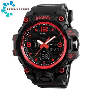 Đồng hồ nam thể thao điện tử chính hãng chạy 2 máy chống nước chịu va đập siêu bền SKMEI SM25  -Gozid.watches