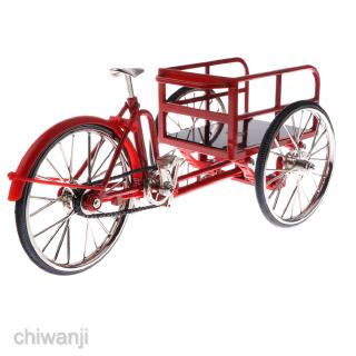 Replica 1:10 Alloy Diecast Tricycle Cycling Toy Racing Real Brake Bike Model