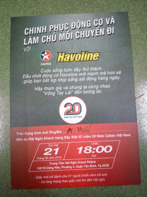 Nhớt xe số Caltex SEMI Havoline 10W40 - dầu nhớt 4T bán tổng hợp xe máy, xe côn tay, exciter, winner, raider, wave