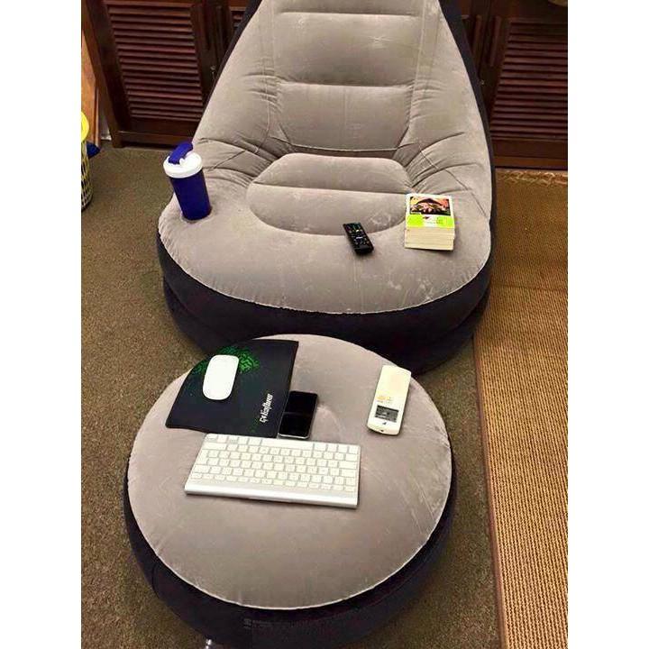 Ghế hơi tựa lưng Intex 2 chi tiết cao cấp kèm bơm điện 2