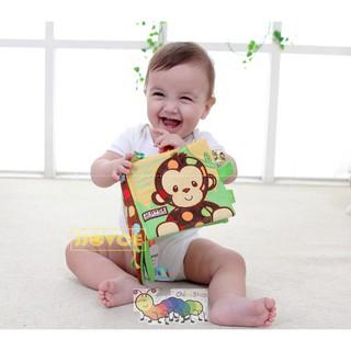 Sách vải JVOICE phát triển cảm quan cho bé hình khỉ