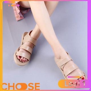 [Bản Mới Nhất] Giày Nữ Choose Đi Mưa Sandal 3 Quai Nhựa Chống Thấm Nước Cho Các Bạn Trẻ Mùa Mưa G18K5 thumbnail