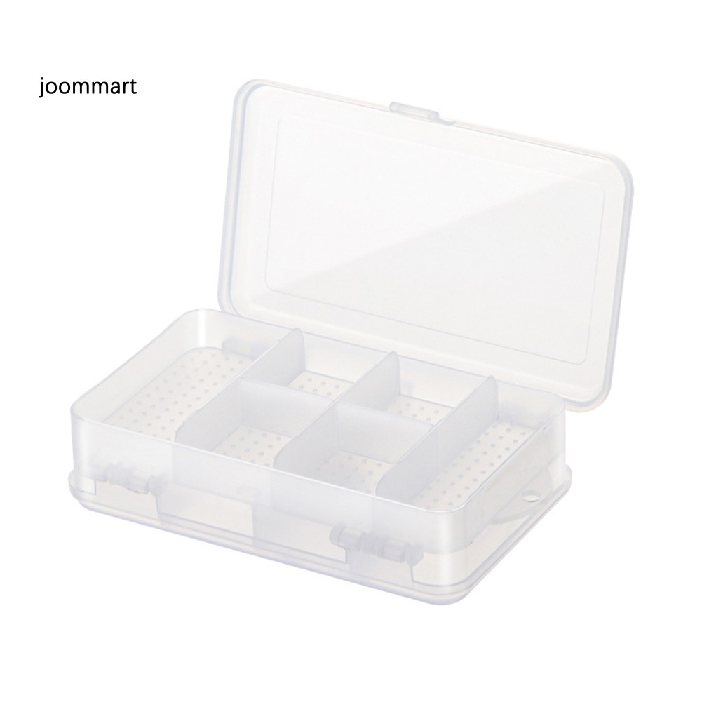 Hộp nhựa đựng trang sức nhỏ 6 ngăn 2 mặt