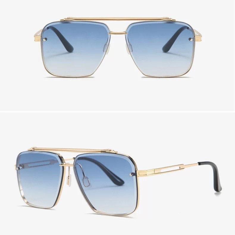 Kính mát nam MT12 TISSELLY mắt vuông phi công chống tia UV - phân cực lái xe thời trang gọng...
