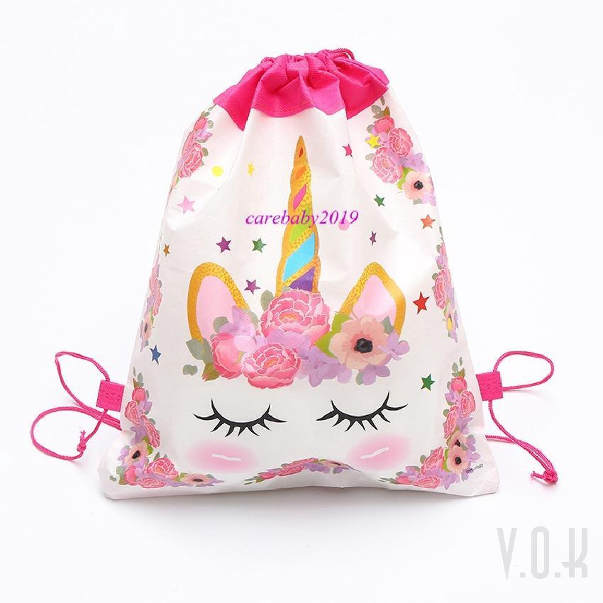ยูนิคอร์นธีมผ้าไม่ทอเด็กวันเกิดยกเค้ากระเป๋าพรรคถุงขนมถุงของขวัญ 1 117