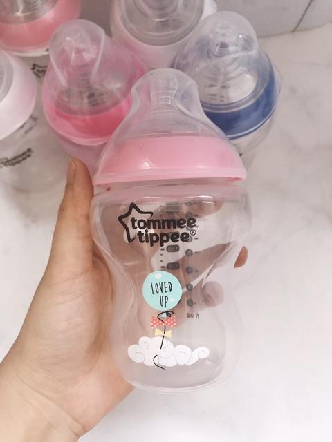 [Núm tuỳ chọn] Bình sữa chống sặc Tommee Tippee 260ml_ Hàng Úc chính hãng