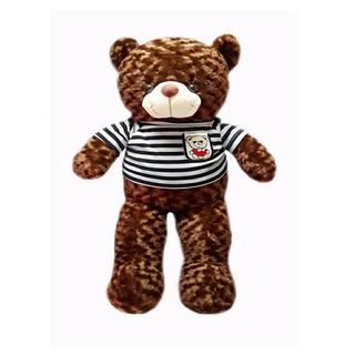 Gấu bông Teddy Cao Cấp khổ vải 80cm Cao 60cm màu Nâu hàng VNXK- Best Bear