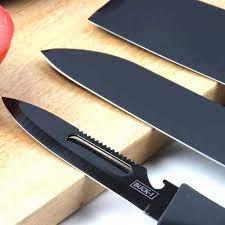 Chuyên sỉ bộ dao kéo hợp kim đen siêu bền 5 chi tiết