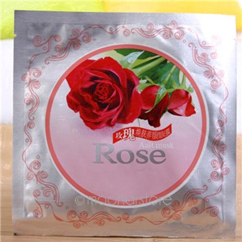 Rose essence Whitening Nourishing Smooth White Facial Face Mask Sheet Moisture