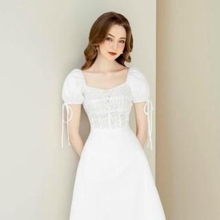 Đầm thiết kế / đầm xoè trắng Sun