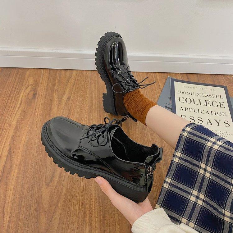 Giày Da Nữ Phong Cách Hàn Quốc