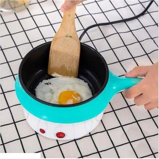Nồi Lẩu Mini Đa Năng 2 Tầng Chống Dính, Nồi lẩu điện mini cầm tay size 18cm - Tặng khăn lau bếp