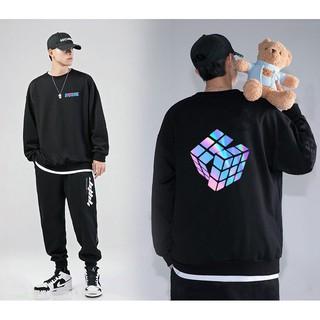 Áo Sweater Rubik Phản Quang Unisex Freesize Dưới 75 Kg AS09