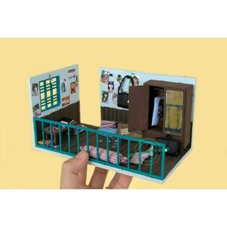 Mô hình nhà gỗ DIY – TX03 – Góc ký ức (Tặng keo dán + Mica che bụi)