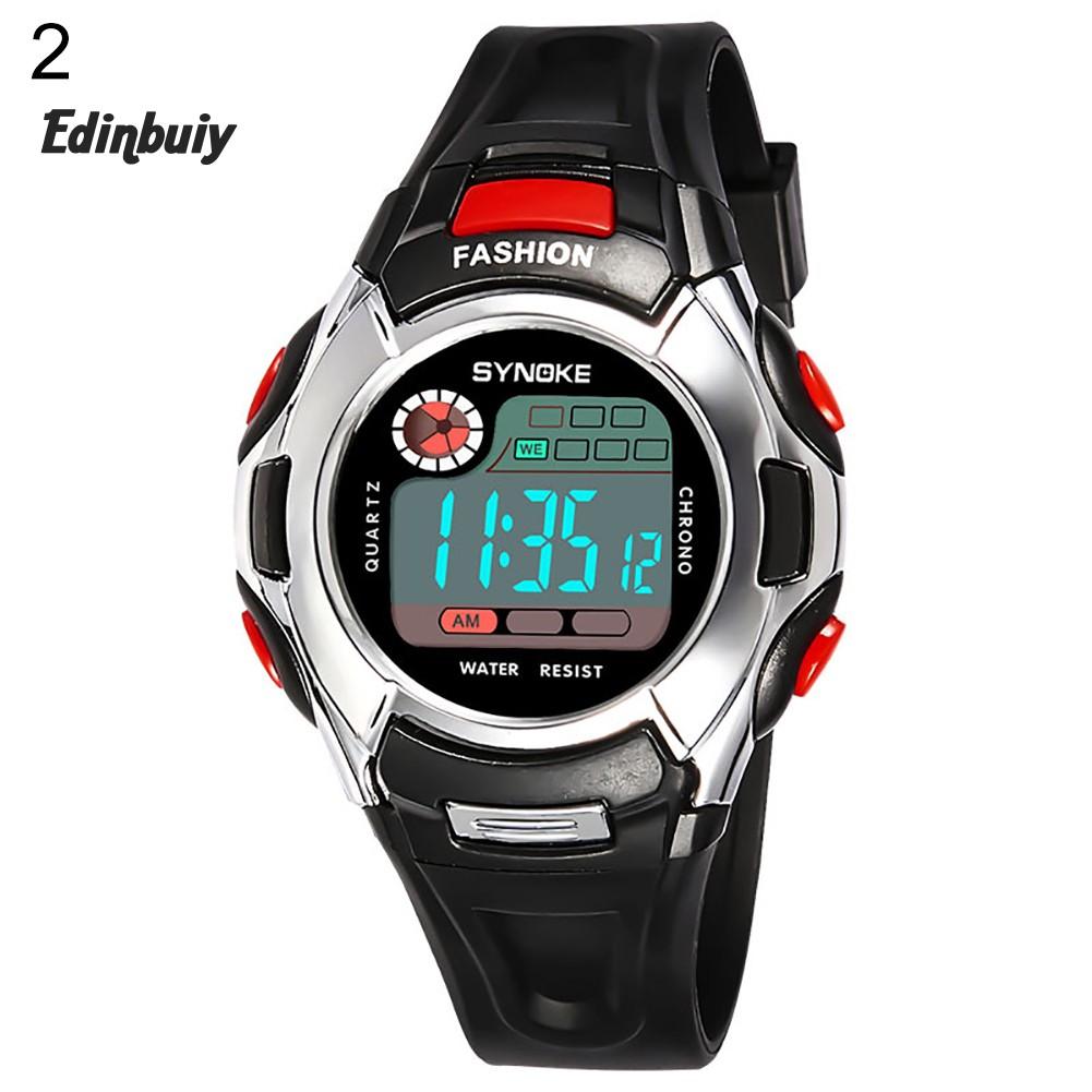 ✔Ready Fashion Shockproof Digital Luminous Alarm Sports Kids Children Wrist Watch Decor