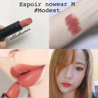 Son Espoir cam đất Modest Nowear lipstick