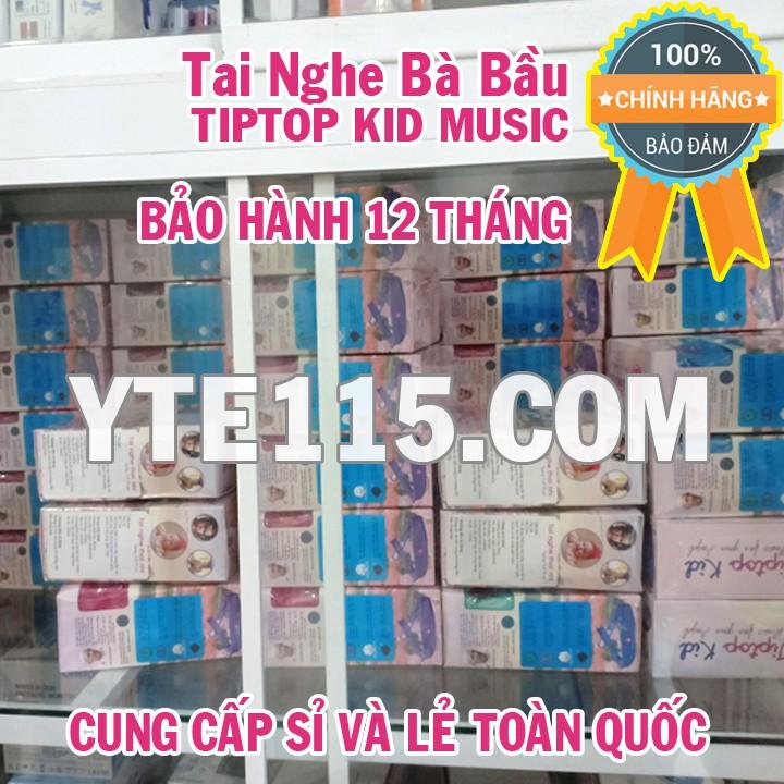 TAI NGHE BÀ BẦU TIPTOP KID MUSIC MÀU XANH DƯƠNG - TẶNG DÂY NỐI DÀI VÒNG BỤNG - YTE115.COM ĐẠI LÝ CHÍNH THỨC TIP TOP KID