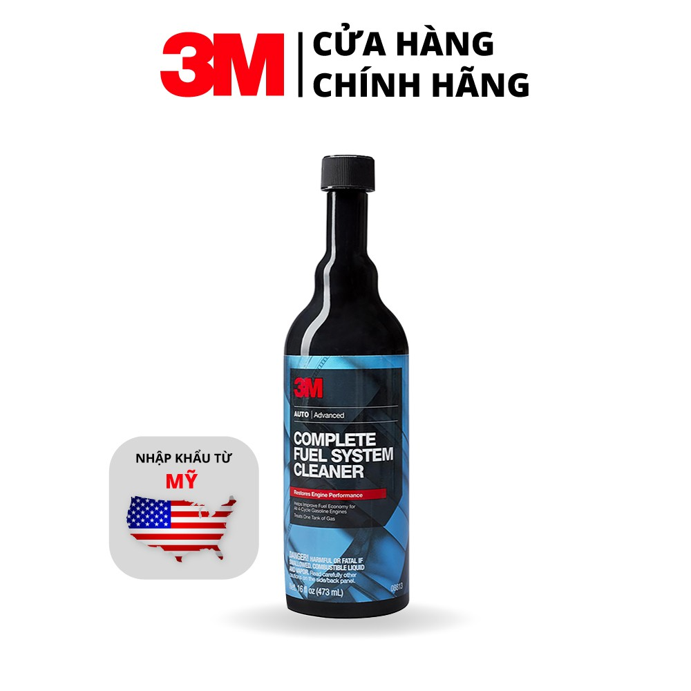 Dung Môi Phụ Gia Xăng 3M Complete Fuel System Cleaner 08813 473ml