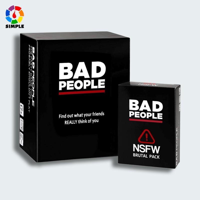 Bộ trò chơi thẻ Bad People thú vị