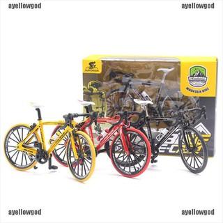 【AYG】Magic finger bike alloy bicycle model 1:10 bicycle bend road mini racing toys