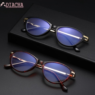 DIACHA Fashion Computer Glasses Non-Prescription Blue Light Blocker Glasses Blue Light Blocking Glasses Women & Men Reading Gaming Anti Eye Eyestrain Oval Frame Eyeglasses