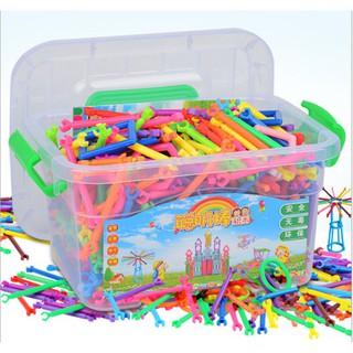 [SIÊU KM] đồ chơi cho bé – combo 4 Bộ đồ chơi lắp ghép xếp que thông minh | SẢN PHẨM HOT