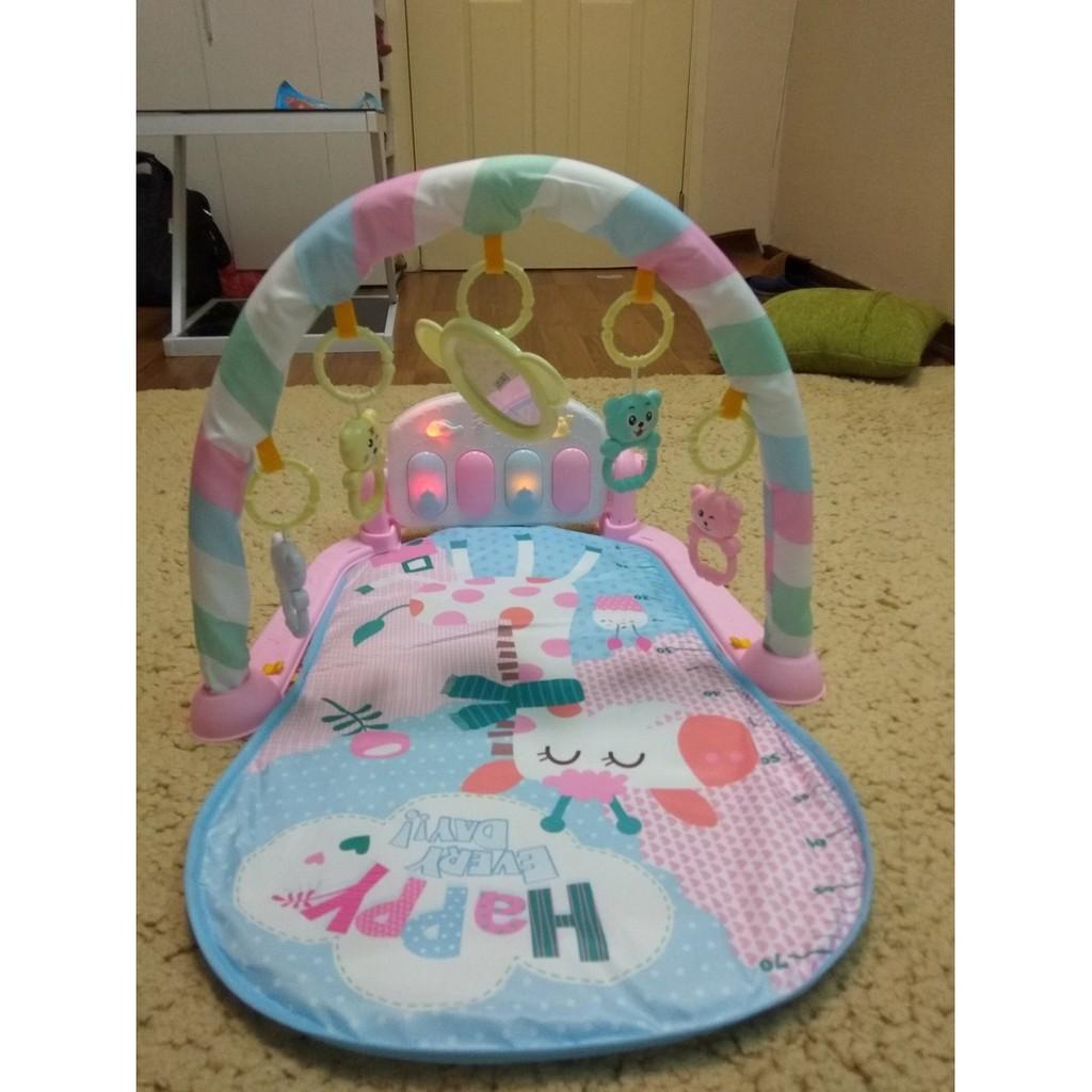 Thảm nằm chơi nhạc cho bé mẫu con hươu ( hình thật khách gửi tặng )