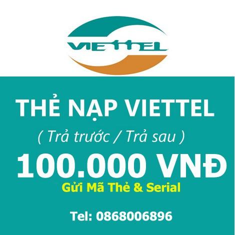 Thẻ Điện Thoại Viettel 100K