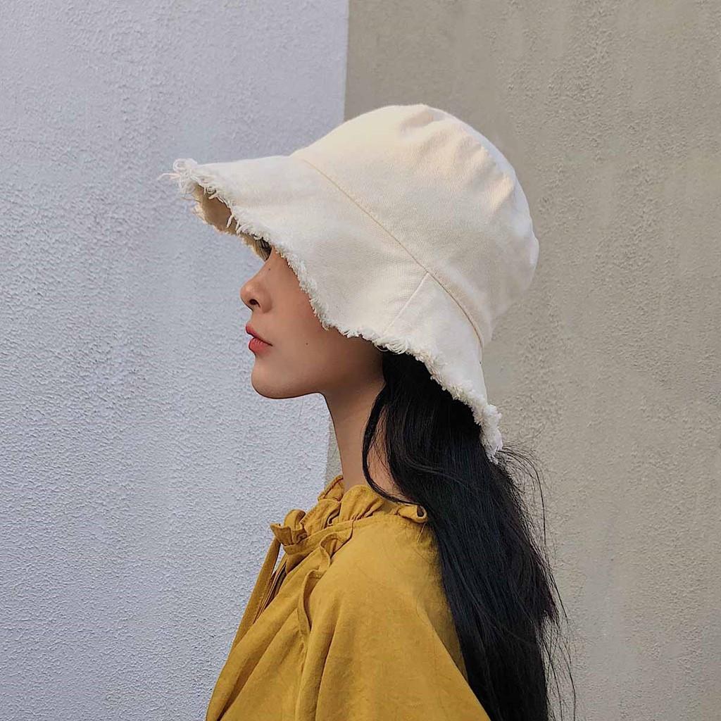 mũ ngư dân mũ Basin mùa hè phiên bản Hàn Quốc cặp đôi mũ lưỡi trai chống nắng che nắng văn nghệ phiên bản Nhật nam