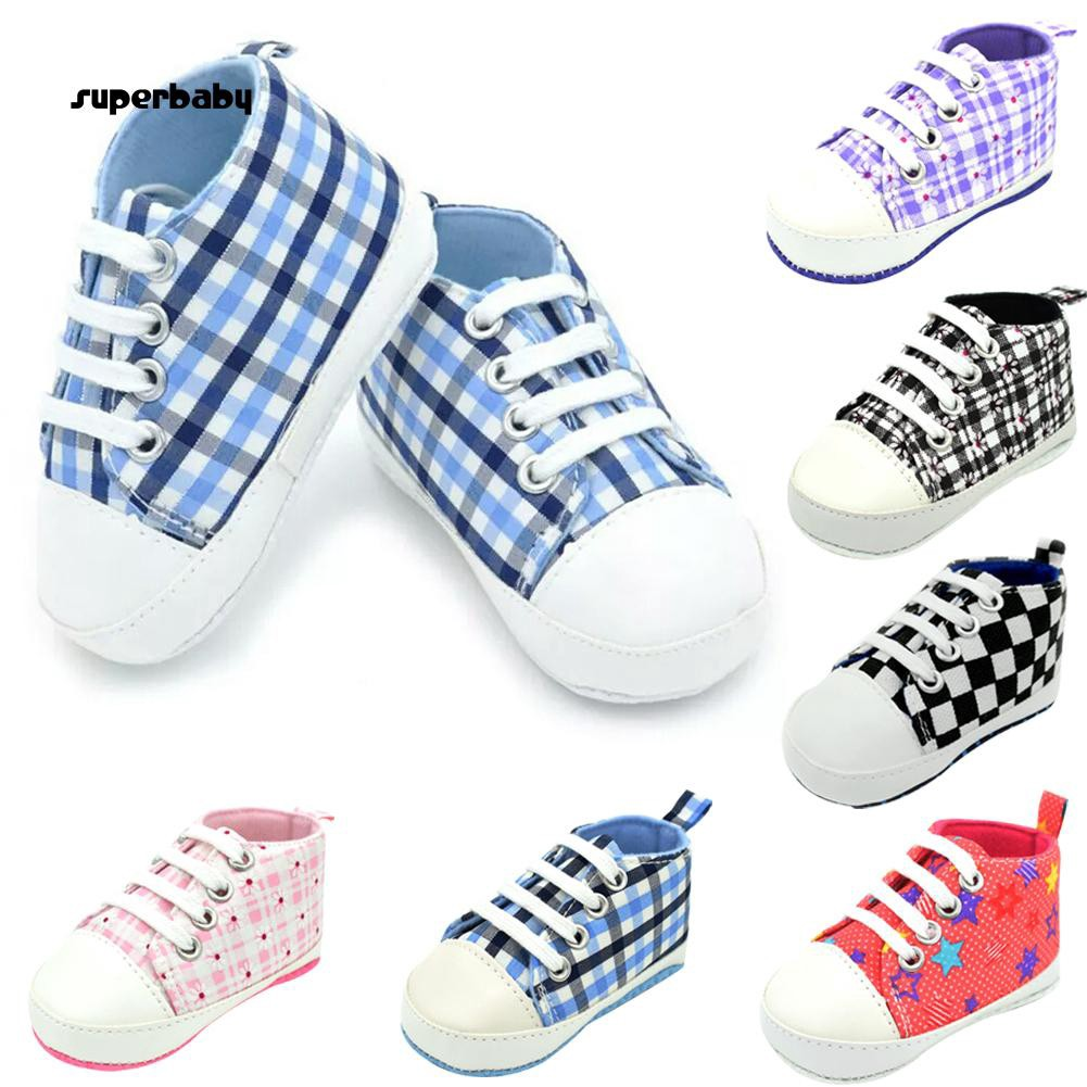 SBaby-Baby Infants Autumn Summer Breathable Anti-slip Canvas Soft Sole Shoes Sneakers