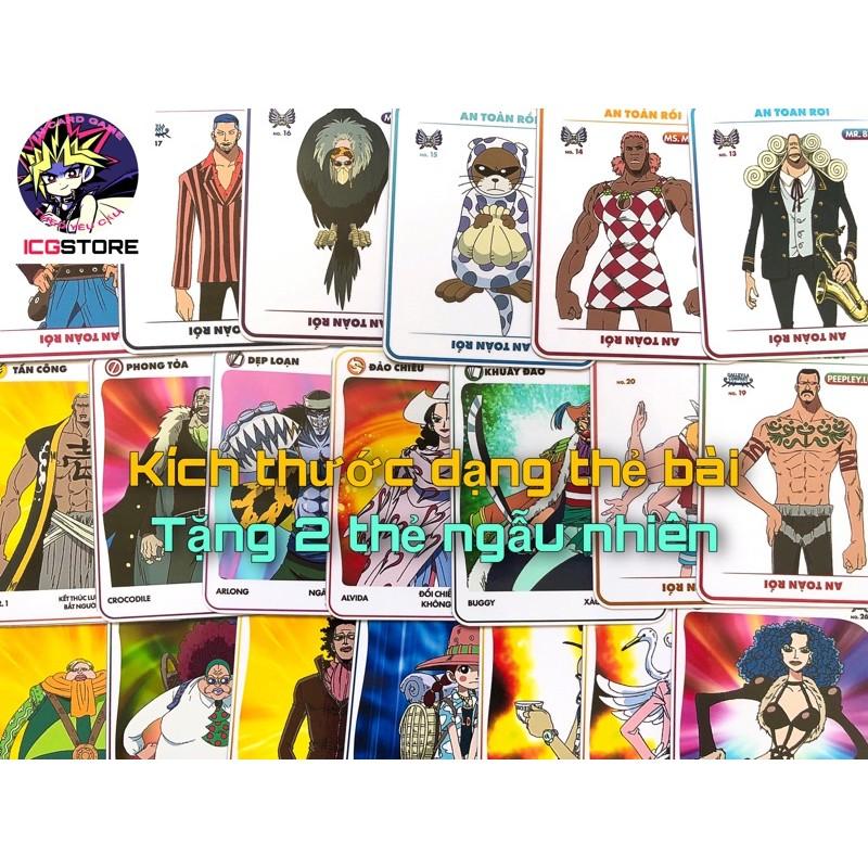 Bộ Thẻ bài Toonies One Piece Boom cơ bản dạng board game mèo nổ 61 lá