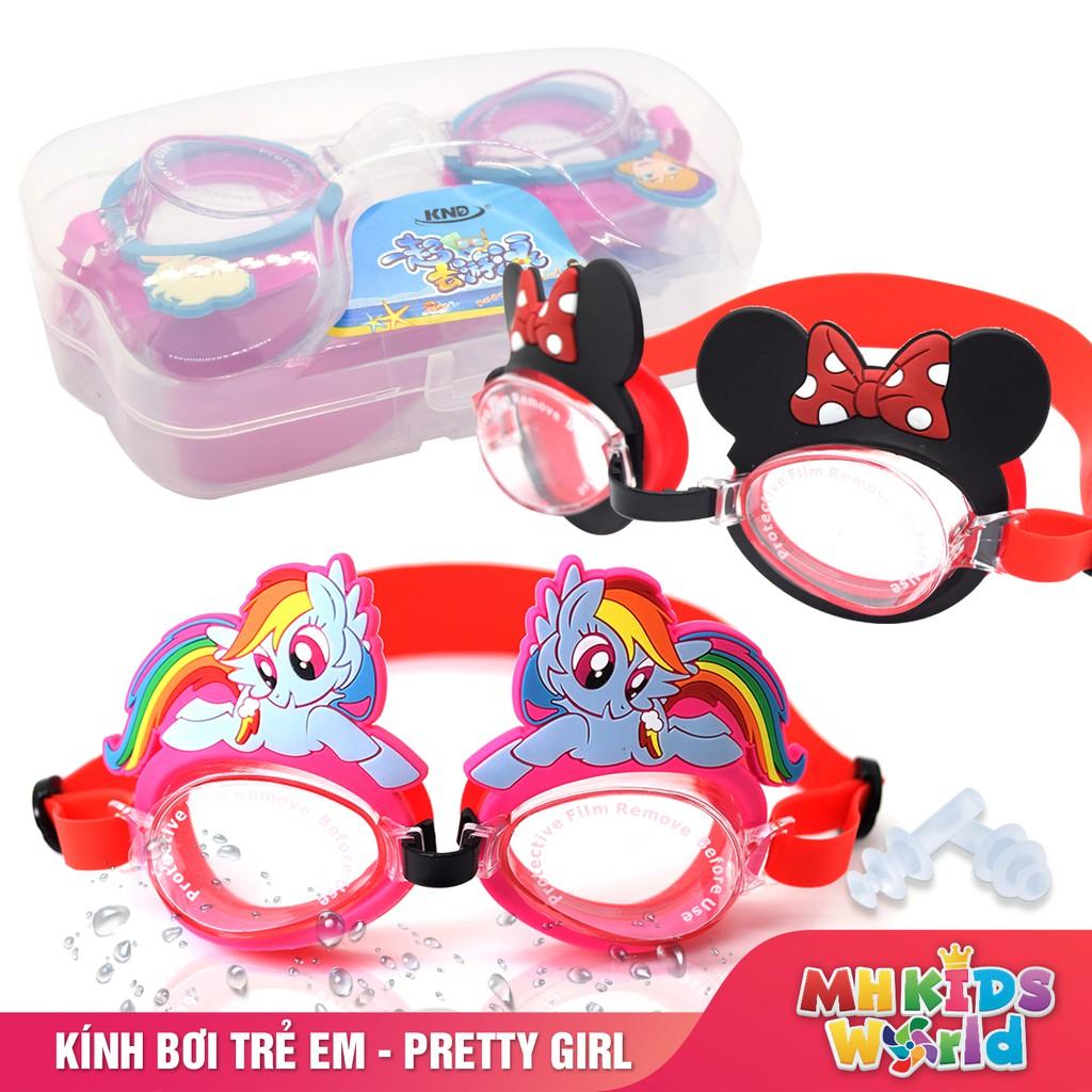 Kính bơi trẻ em cho bé gái từ 5 đến 14 tuổi theo nhân vật hoạt hình mà bé yêu thích