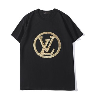 Fashion LV sequined cotton unisex T-shirt