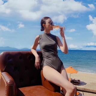 HOT ___ Sales 9-9 (Ảnh Thật) Bộ đồ bơi , bikini nữ một mảnh xám đan sườn . . Hot nhất …