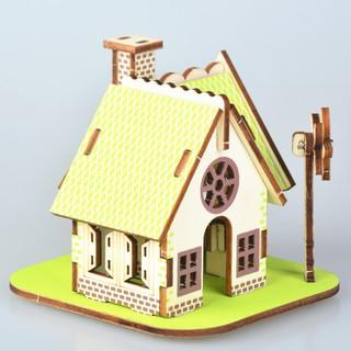 Đồ Chơi Ghép Hình Gỗ 3D Mô Hình Nhà Gỗ