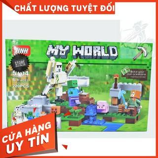 [HOT]Lego MineCraft – My World Hộ Vệ Sắt Iron Golem – XINH 5104 ( 220 Mảnh )-Hàng Có Sẵn