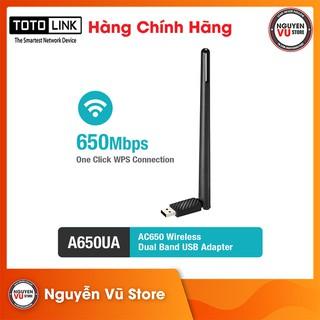 USB Wi-Fi Totolink A650UA băng tần kép AC650 - Hàng Chính Hãng thumbnail