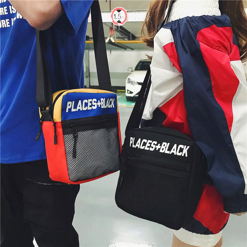 ple student pockets street hip hop dead fly small postman bag chest bag 蹦di bag