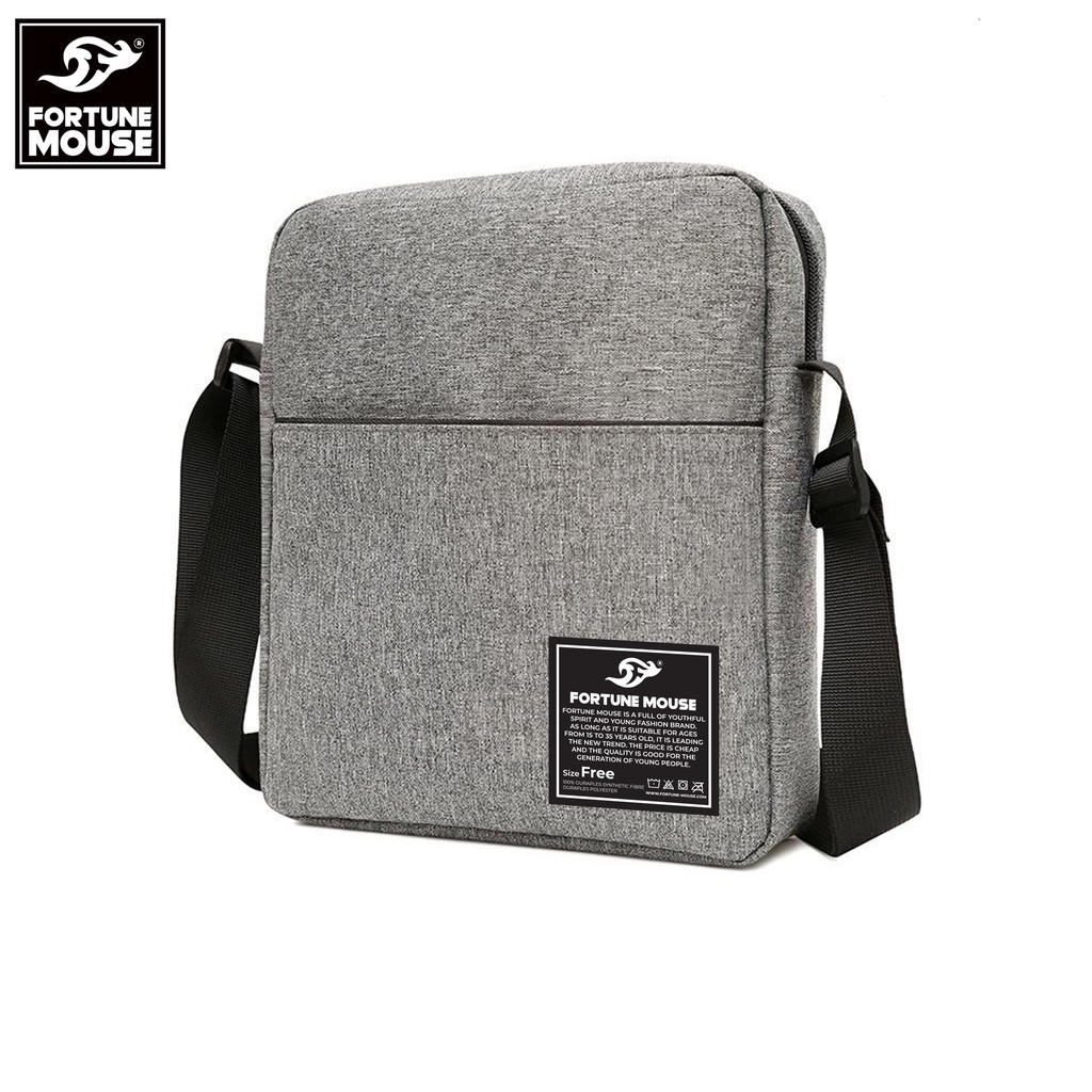 Túi đeo chéo Fortune Mouse thời trang vải bố xước CB001