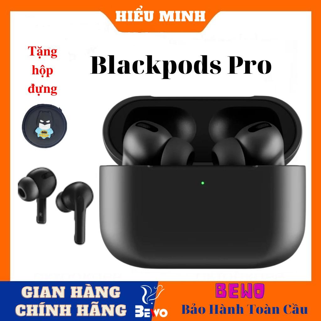 Tai nghe bletooth Airpods Pro Black, Mầu đen nhám huyền bí, Có chống ồn, đỏi tên, Định vị, Sạc không dây.