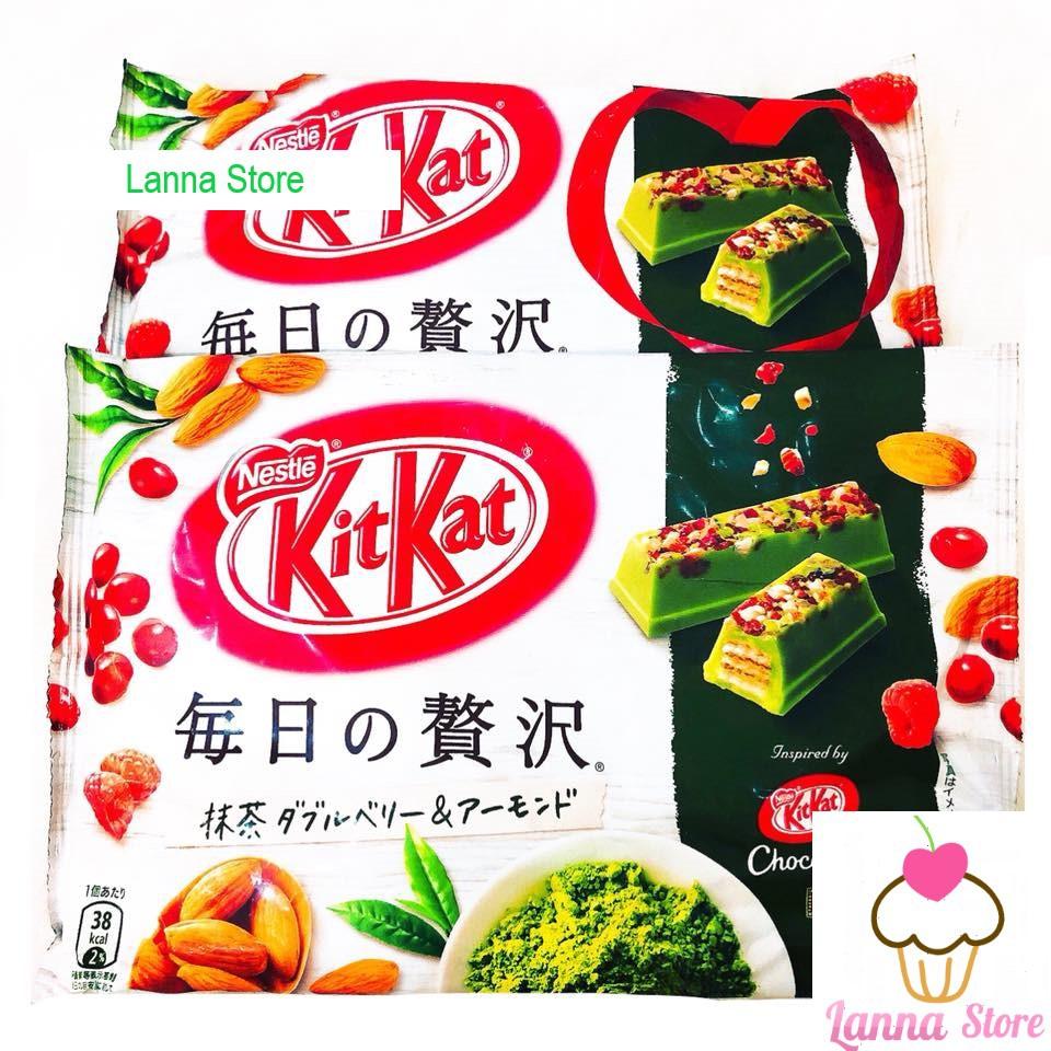 KitKat matcha berries hạnh nhân - Nhật Bản