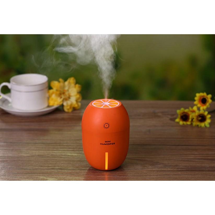 [NHẬP HOMENEW07 giảm 12%]_Máy phun Sương xông tinh dầu kiêm đèn ngủ Lemon Humidifier Quả Chanh- Giao