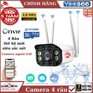 Camera ip wifi ngoài trời yoosee 4 râu , 3.0 MPx , cảm biến chuyển động , đàm thoại 2 chiều , bảo hành chính hãng